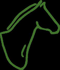 Einstreu und Futter für Pferde