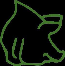 Einstreu und Futter für Schweine
